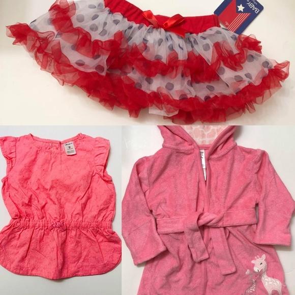 04ae3c4ca12d Carter's Pajamas | Bundle 9 Month Baby Girls Pajama Tutu And Shirt ...